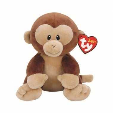 Pluche ty beanie bruine baby aap apen knuffel banana 24 cm speelgoed
