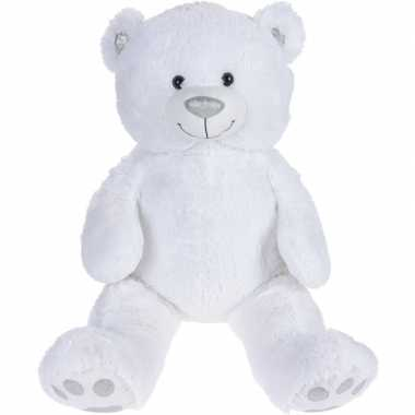 Pluche witte beer beren knuffel 75 cm speelgoed