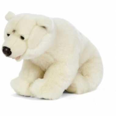 Pluche witte ijsbeer knuffel 61 cm speelgoed