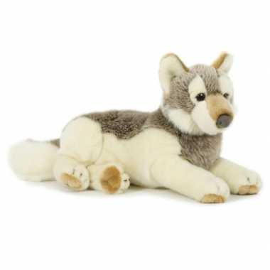 Pluche wolf knuffel 30 cm speelgoed