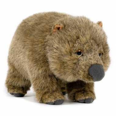Pluche wombat buideldier knuffel 25 cm speelgoed