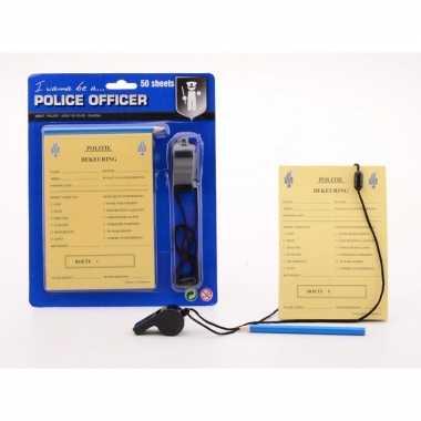 Politie speelgoed accessoires bonnenboekje