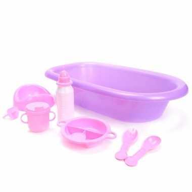 Poppen speelgoed badset 8 delig