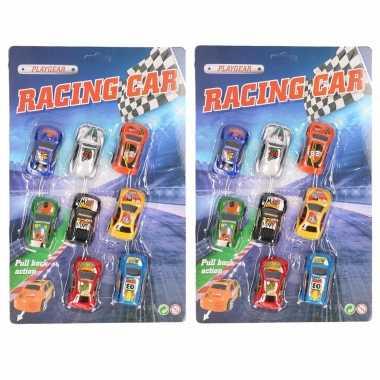 Race speelgoed auto's 8 stuks