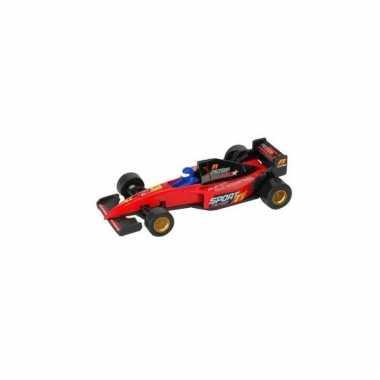 Rode formule 1 speelgoed race auto