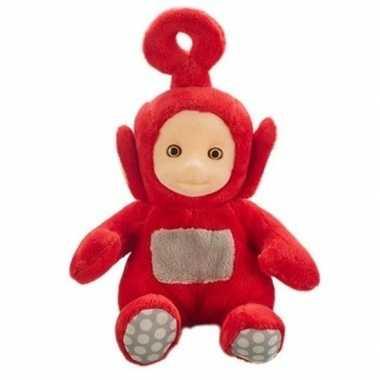 Rode teletubbies po speelgoed knuffel/pop met geluid 20 cm