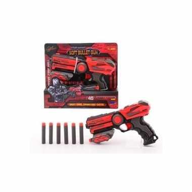 Rood speelgoed pistool 23 cm