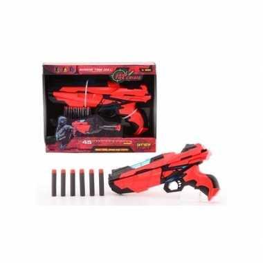 Rood speelgoed pistool 29 cm
