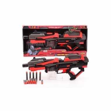 Rood speelgoed pistool 54 cm