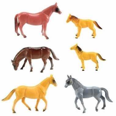 Rubber speelgoed paarden set