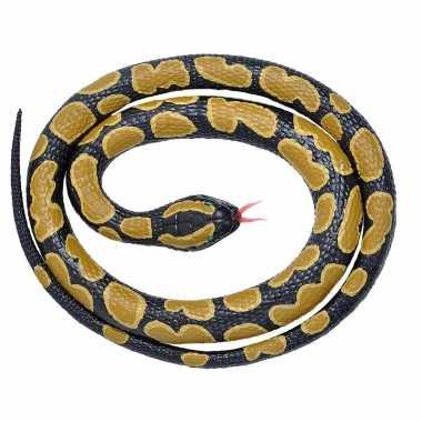 Rubberen speelgoed koningspython slang 117 cm