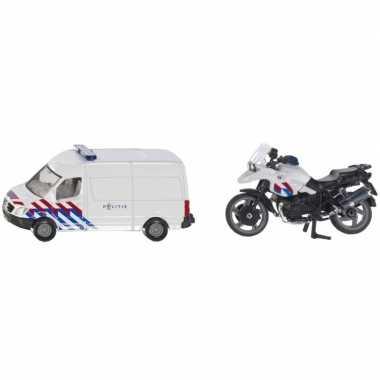 Siku nederlandse politie speelgoedauto en motor set