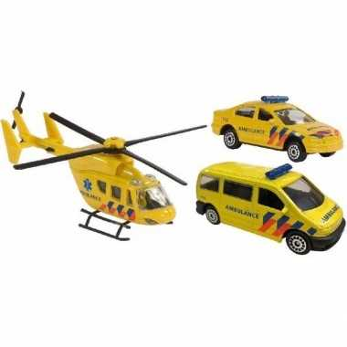 Speelgoed 112 ambulance set 3 delig