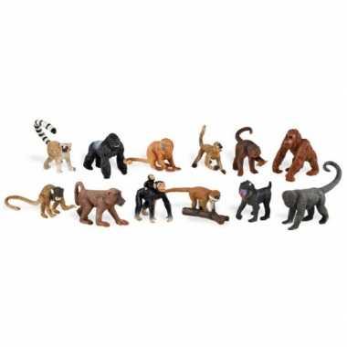 Speelgoed aapjes van plastic