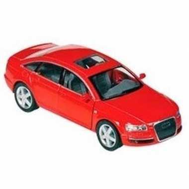 Speelgoed auto audi a6 rood 1:38