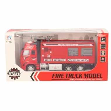 Speelgoed auto brandweerwagen/blusauto 18 cm