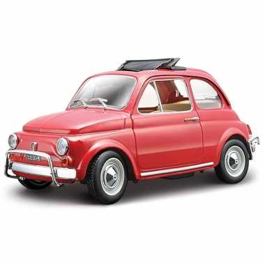 Speelgoed auto fiat 500 1968 rood 1 24