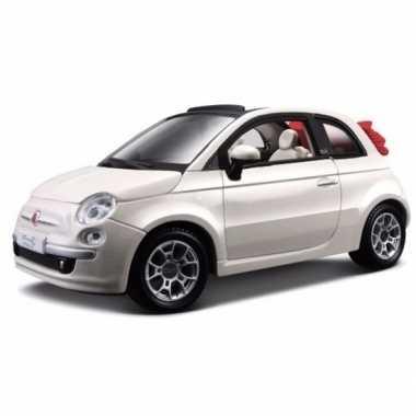 Speelgoed auto fiat 500 cabrio wit 1 24