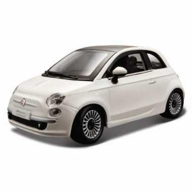 Speelgoed auto fiat 500 wit 1 24