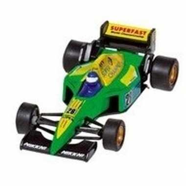 Speelgoed auto formule 1 wagen groen 10 cm
