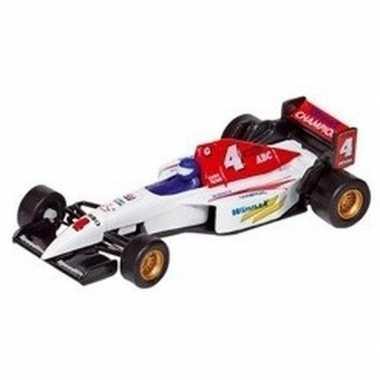 Speelgoed auto formule 1 wagen wit 10 cm