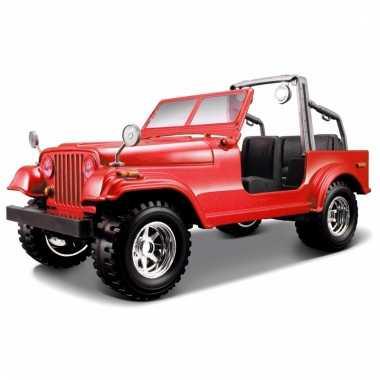 Speelgoed auto jeep wrangler cabrio 1:24