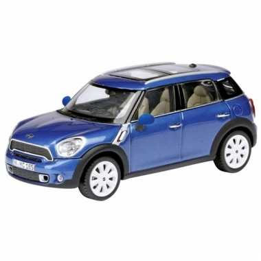 Speelgoed auto mini countryman blauw 1:24