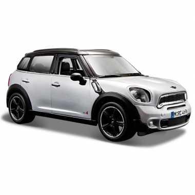 Speelgoed auto mini countryman zilver 1:24