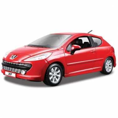 Speelgoed auto peugeot 207 rood 1 24