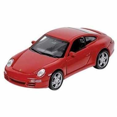 Speelgoed auto porsche 911 rood 1:34