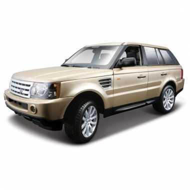 Speelgoed auto range rover goud metallic 1 18