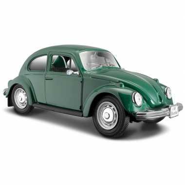 Speelgoed auto volkswagen kever groen 1 24