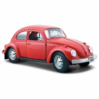 Speelgoed auto volkswagen kever rood 1 24