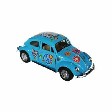 Speelgoed auto vw kever blauw
