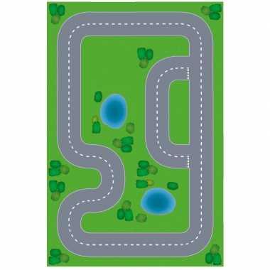 Speelgoed autowegen stratenplan wegplaten racecircuit set karton