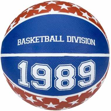 Speelgoed basketbal rood wit blauw 23 cm