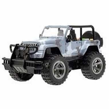 Speelgoed blauwe camouflage jeep wrangler auto 27,5 cm