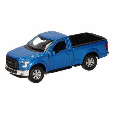 Speelgoed blauwe ford f-150 auto 12 cm