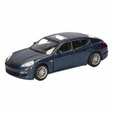 Speelgoed blauwe porsche panamera s auto 12 cm