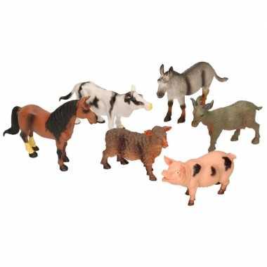 Speelgoed boerderij dieren 6 stuks