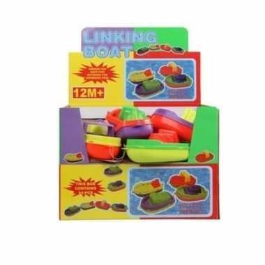Speelgoed bootje gekleurd 14 cm