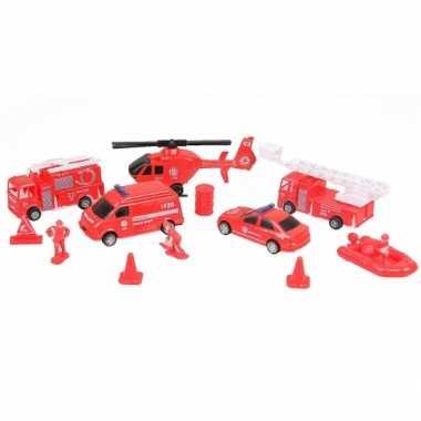 Speelgoed brandweer speelset