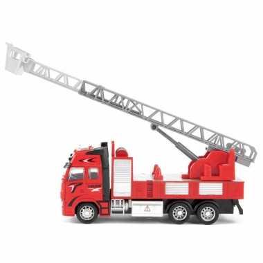 Speelgoed brandweerauto/ladderwagen 25 cm