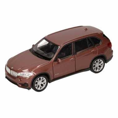 Speelgoed bruine bmw x5 auto 1:36