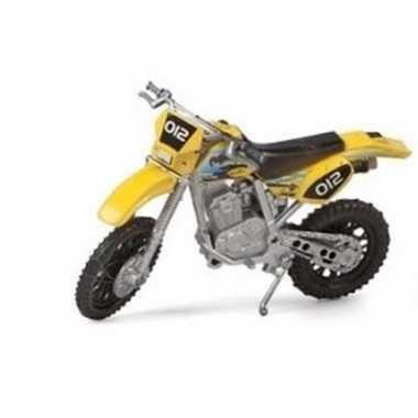 Speelgoed cross motor geel