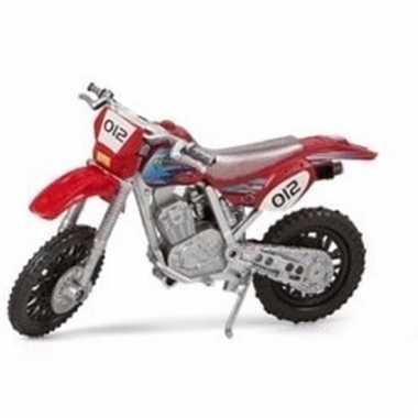 Speelgoed cross motor rood