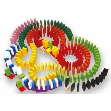 Speelgoed domino set van hout 560-delig