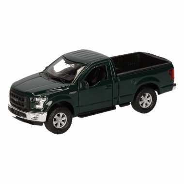 Speelgoed donkergroene ford f-150 auto 12 cm