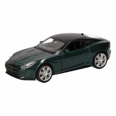 Speelgoed donkergroene jaguar f type coupe auto 12 cm