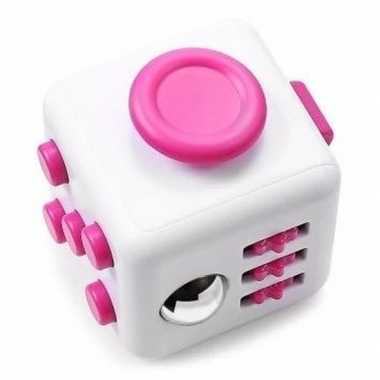 Speelgoed fidget cube roze